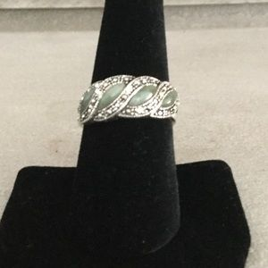 925 sterling authentic Jade band